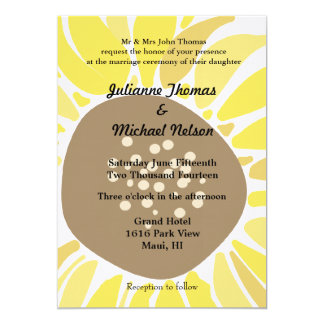 Sunflower Personalized Invites