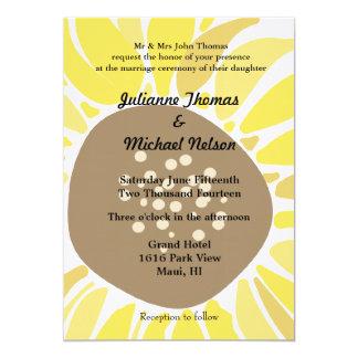 "Sunflower 5"" X 7"" Invitation Card"