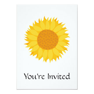 Sunflower. 5x7 Paper Invitation Card