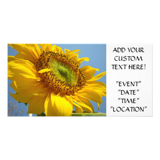 SUNFLOWER Invitation Cards Party Invitations Event Custom Photo Card