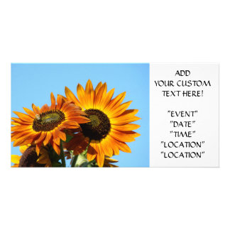 SUNFLOWER Invitation Cards Party Invitations Event Photo Card Template
