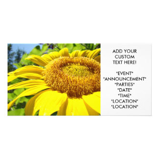 SUNFLOWER Invitation Cards Party Invitations Event Photo Greeting Card