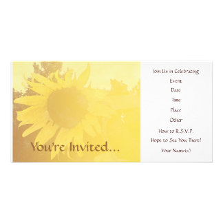 Sunflower Invitation Customized Photo Card