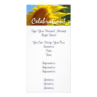 Sunflower invitations Celebration Sun Flowers Personalized Photo Card