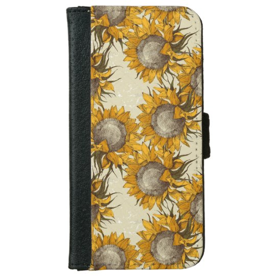 Sunflower Iphone 6/6s Wallet Case iPhone 6 Wallet Case