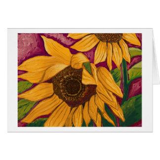 Sunflower joy card