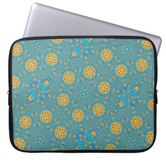 Sunflower kaleidoscope laptop sleeve