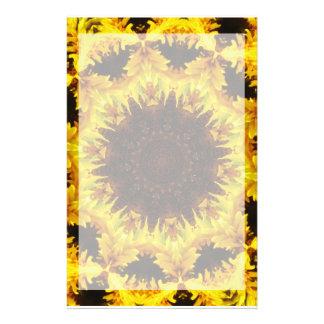 Sunflower Kaleidoscope Stationary Customised Stationery