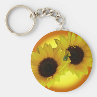 Sunflower Key Chains Cheerful Yellow Flower Gifts