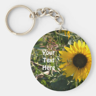 Sunflower Keyring Basic Round Button Key Ring