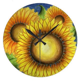 Sunflower Kitchen Wall Clock Gift
