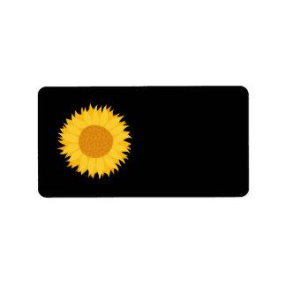 Sunflower. Label
