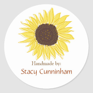Sunflower Labels for Handmade items