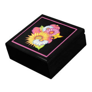 Sunflower Ladybug Jewelry Box Gift