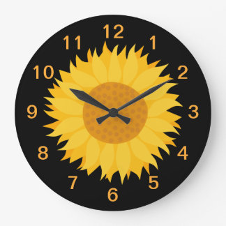 Sunflower. Large Clock