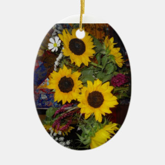Sunflower Laughter Ornament