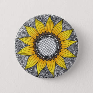 Sunflower Life 6 Cm Round Badge