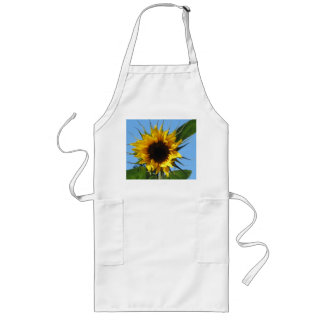 Sunflower Long White Apron