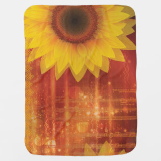 Sunflower, Love and happiness Baby Blanket
