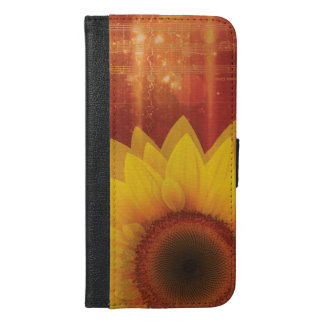 Sunflower, Love and happiness iPhone 6/6s Plus Wallet Case