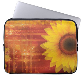 Sunflower, Love and happiness Laptop Sleeves