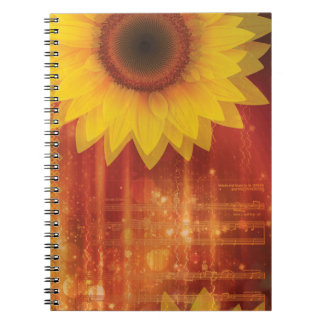 Sunflower, Love and happiness Notebook