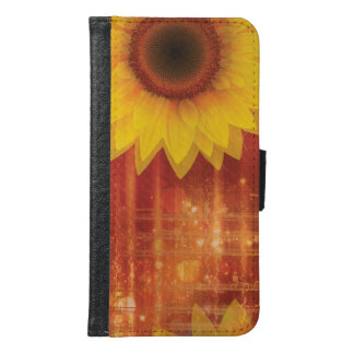 Sunflower, Love and happiness Samsung Galaxy S6 Wallet Case