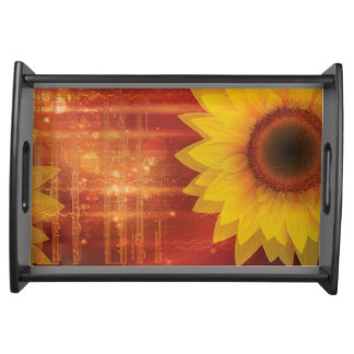 Sunflower, Love and happiness Serving Tray