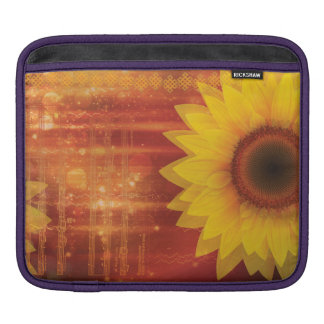 Sunflower, Love and happiness Sleeves For iPads