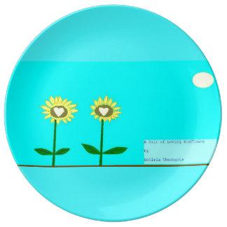Sunflower love plate