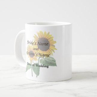 Sunflower Love Wedding Products 20 Oz Large Ceramic Coffee Mug