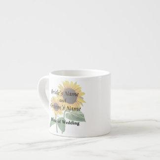 Sunflower Love Wedding Products 6 Oz Ceramic Espresso Cup