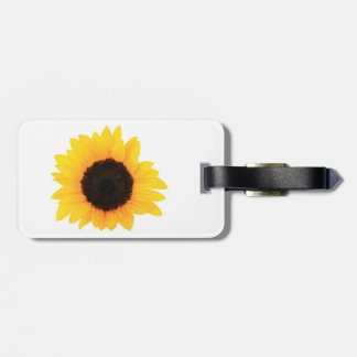 Sunflower Luggage Tag w/ leather strap