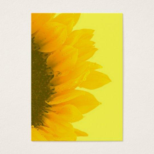 Sunflower Macro Photo Business Card