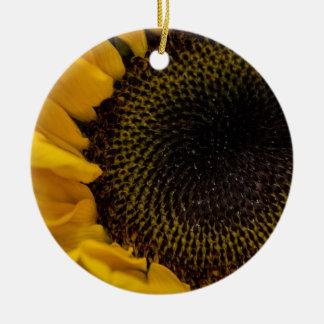 Sunflower Macro Photo Christmas Ornament