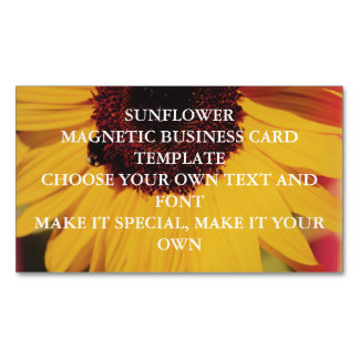 SUNFLOWER MAGNETIC BUSINESS CARD TEMPLATE MAGNETIC BUSINESS CARDS