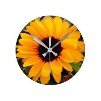 Sunflower Magnificence 4Natalie Round Clock