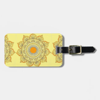 Sunflower Mandala Luggage Tag