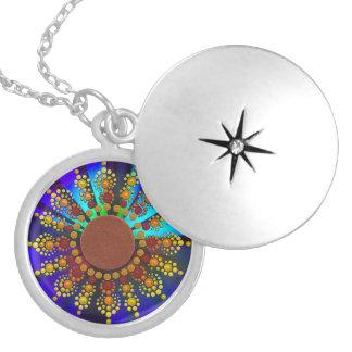 Sunflower Mandala Necklace