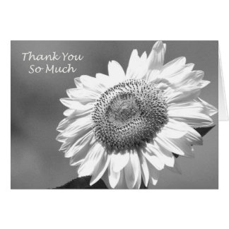 Sunflower Matron of Honor Thank You Card