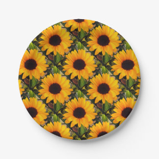 Sunflower Menagerie 4Karla Paper Plate