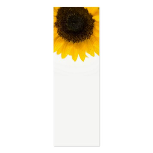 Sunflower Mini Bookmarks Business Card Template