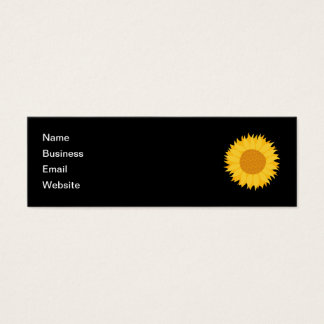 Sunflower. Mini Business Card
