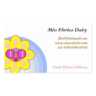 Sunflower, Miss Florica Daisy, Business Cards