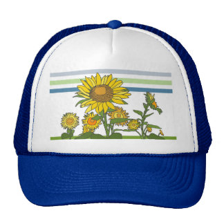 Sunflower + Modern + Stripes Trucker Hats