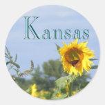 Sunflower Monarch Round Sticker