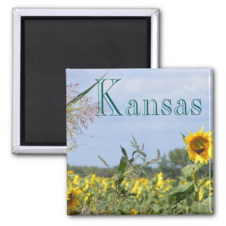 Sunflower Monarch Square Magnet