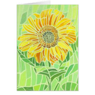 Sunflower Mosaic Design Card