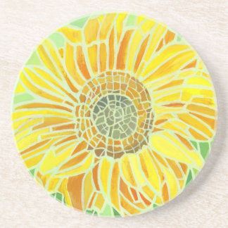 Sunflower Mosaic Design Coaster