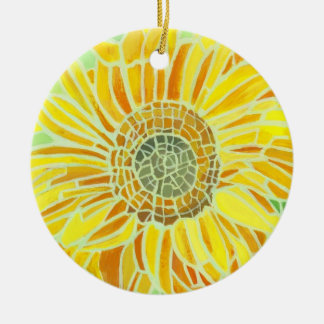 Sunflower Mosaic Ornament